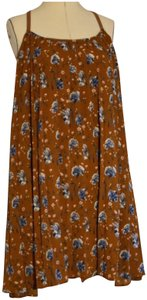 entro short dress brown floral on Tradesy