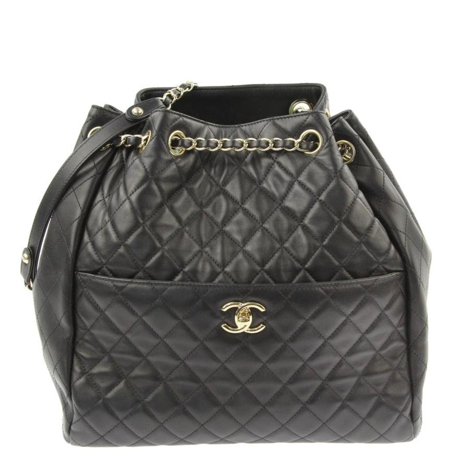 ae4c16855d98e4 Chanel Quilted Drawstring Quilted Drawstring Bucket Bucket Shoulder Bag  Image 0 ...