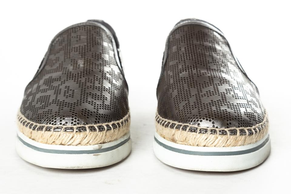 Jimmy Sneakers Perforated Choo Leather Flats Gunmetal rqZxCrw4S