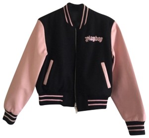 Playboy black and pink Leather Jacket