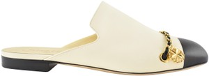 Chanel Lambskin Leather Ballerina Ballet Slide ivory Flats