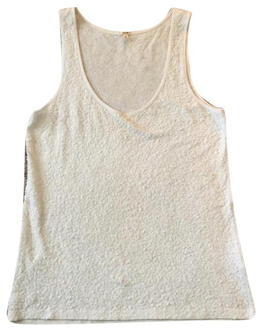 J.Crew Covered In Sequins Tank White Top J.Crew Covered In Sequins Tank White Top Image 1
