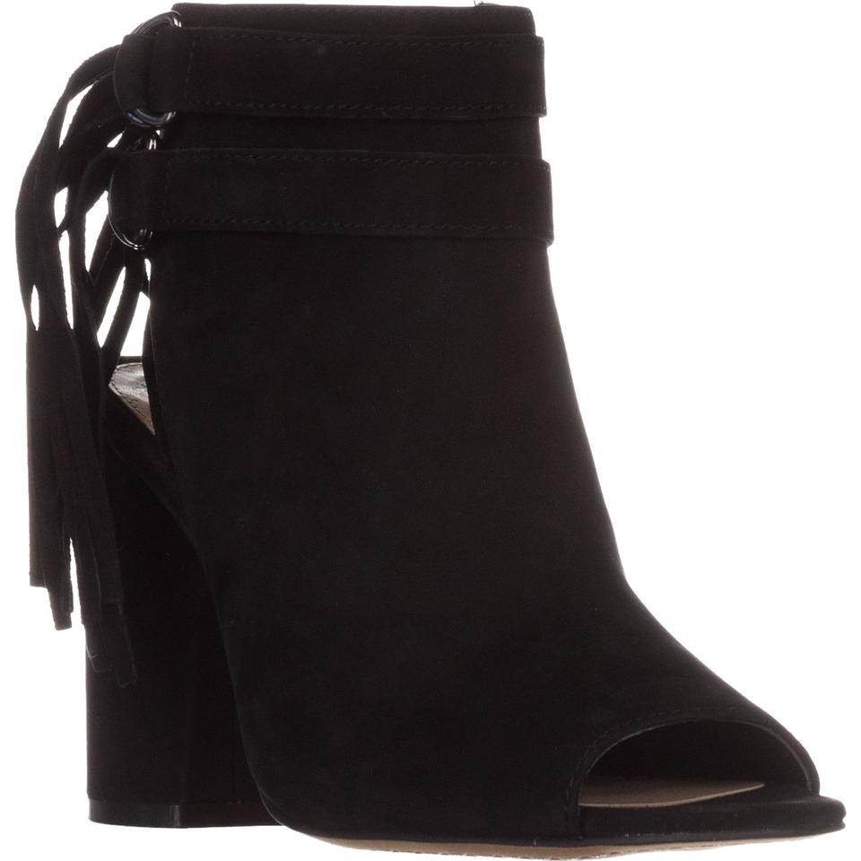 Suede Boots toe Peep Black Booties 38 Ankle Camuto Catinca Eu Vince qIgBYxz