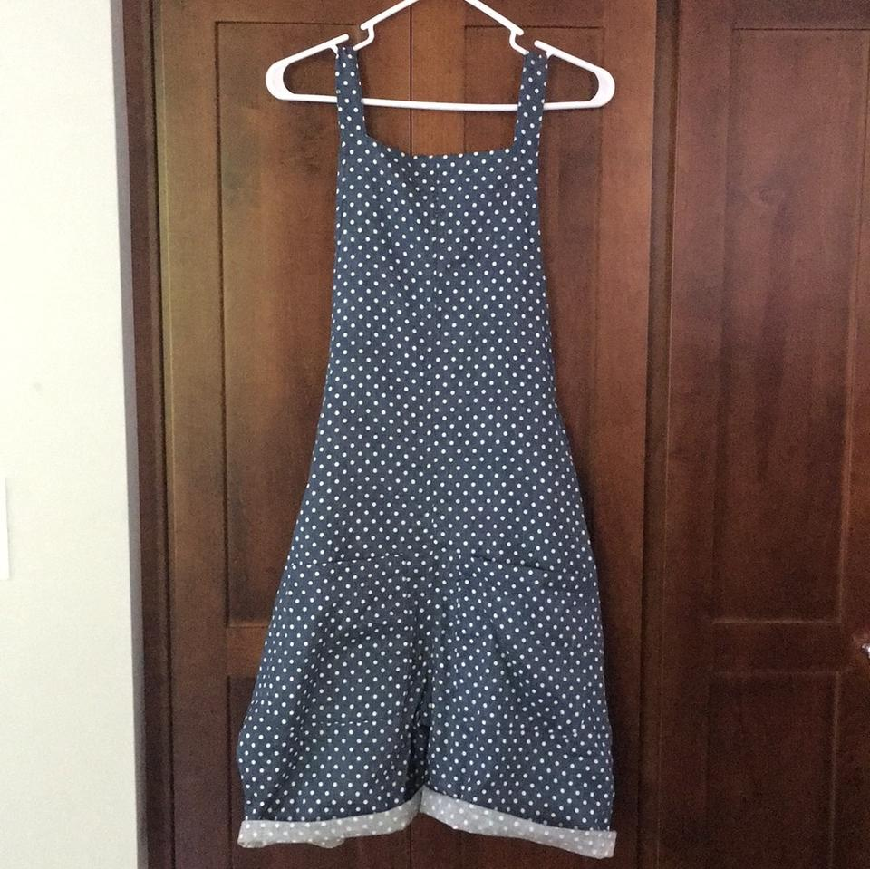 6557d18e077 Hatch Collection Blue Maternity Polka Dot Overalls Romper Jumpsuit - Tradesy