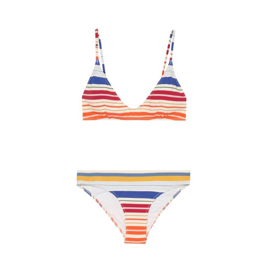 954a405ee5e64 Stella McCartney New with tags Striped Scoop Triangle Bikini Set Top &  Bottoms Image 11. 123456789101112