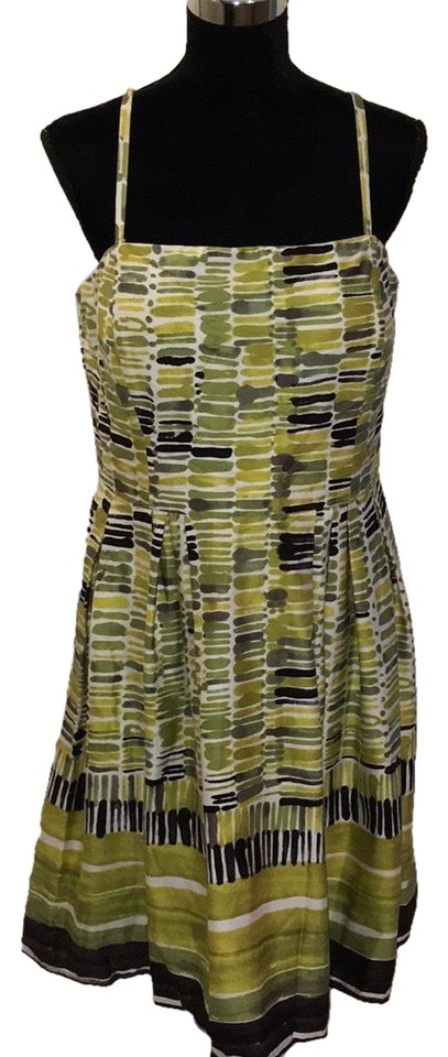 New Directions Multicolor Citron/Belk/Legget Mid-length Night Out ...