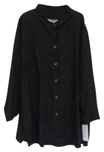 0250fa6dd6d Caroline Rose Button Down Shirt Black