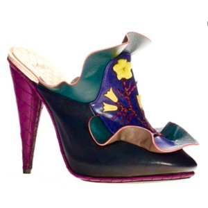 Fendi purple, green, orange Mules