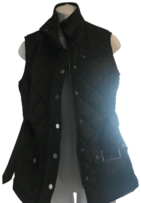 Item - Brown Quilted Belted Vest Size 4 (S)