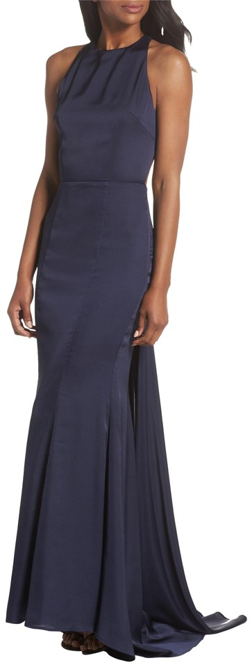 Back Open Navy Formal Jarlo Gown Dress Blanche qaZtF