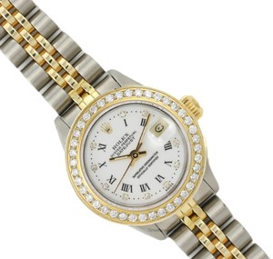 Rolex Womens Rolex 26mm Datejust with Factory Rolex White Diamond Dial