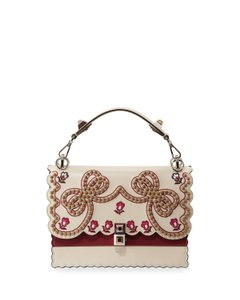Fendi Satchel in Beige leather Color with other red / gold colors