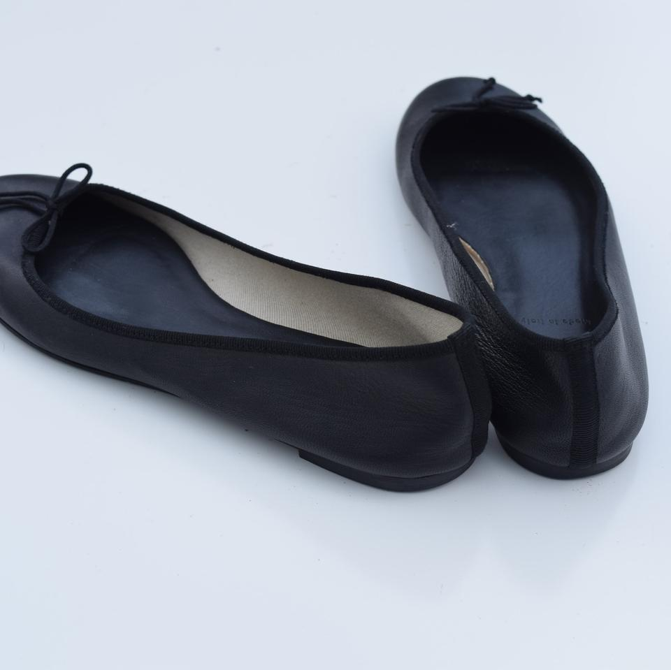 Flats Ballet Leather Black J Classic Crew 4RSB6qX