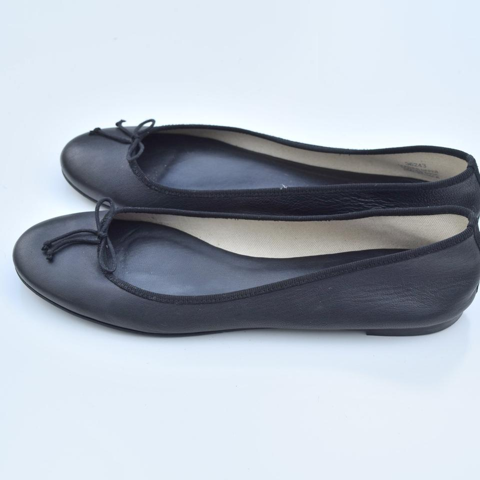 Flats J Ballet Crew Leather Classic Black qwOR7pwX