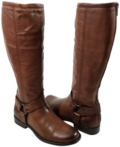 Frye Vintage Leather Iconic Harness Leather Outsole Cognac Boots