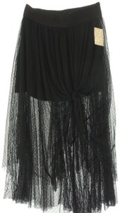 Free People Gypsy Long Maxi Skirt Black