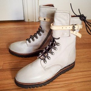 A.S. 98 Leather Ankle Strap white Boots