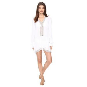 Neiman Marcus New with tags Athena Cabana Willow Long Sleeve Tunic Swim Cover Up