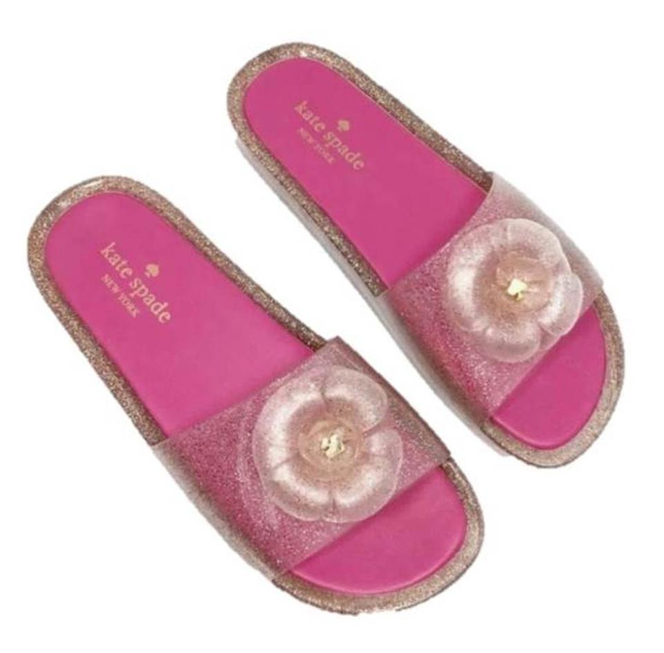 48eee42425f Kate Spade Pink Splash Jelly Flower - New M Sandals Size US 7 ...