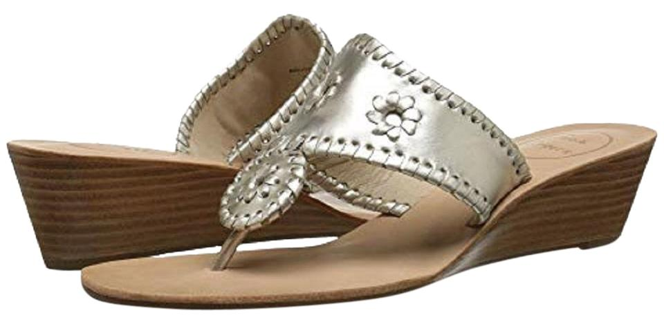 e593a90a24337d Jack Rogers Platinum Mid Wedge In Sandals Size US 9 Regular (M