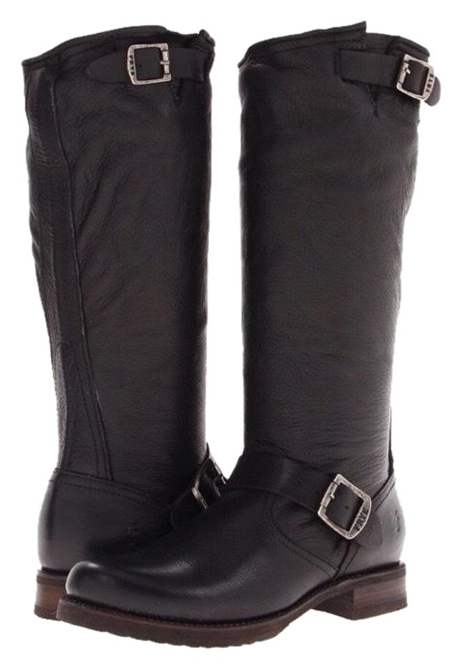 Boots Booties Leather Veronica Black Frye Slouchy FwRCH8v1qx
