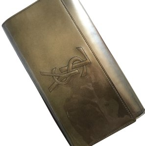 Saint Laurent YSL Belle De Jour Metallic Clutch
