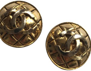 Chanel Chanel Quilted Circle Earrings Clip On