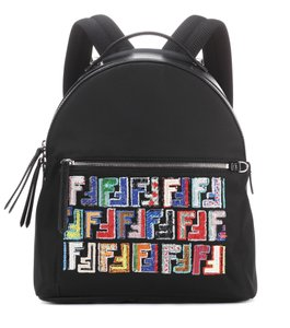 Fendi Classic Shoulder Logo Embellished Backpack