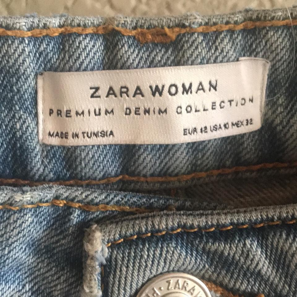 Mom Jeans Wash Relaxed Light Fit Distressed Blue Zara Iwq16n