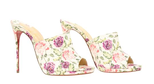Christian Louboutin Leather Floral Multi Mules Image 1