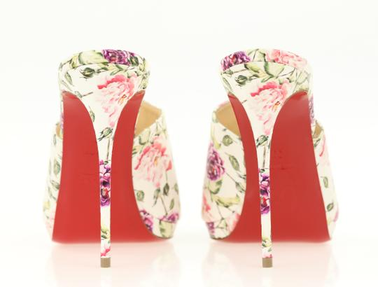 Christian Louboutin Leather Floral Multi Mules Image 2