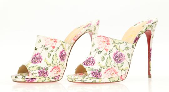 Christian Louboutin Leather Floral Multi Mules Image 3