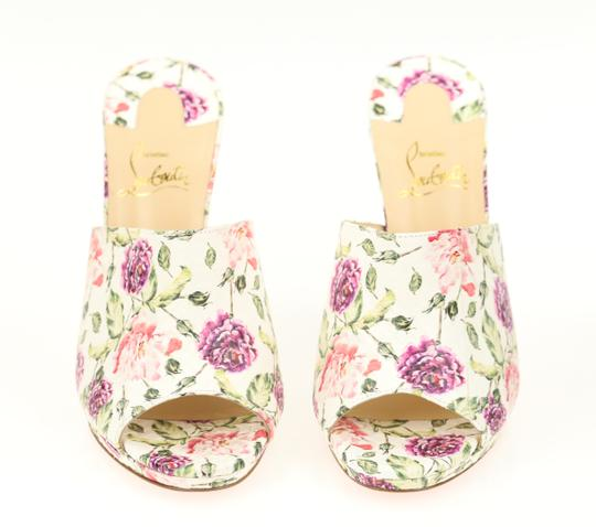 Christian Louboutin Leather Floral Multi Mules Image 4