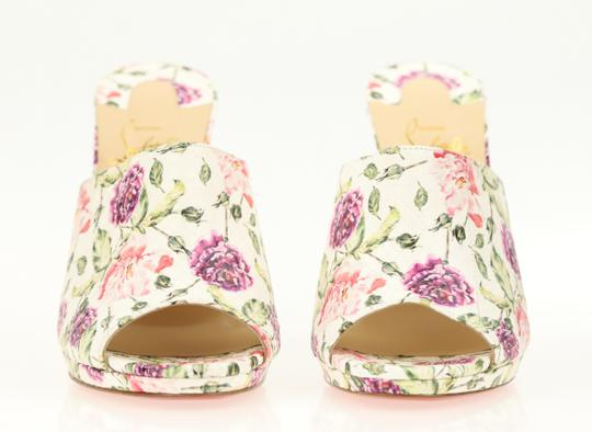 Christian Louboutin Leather Floral Multi Mules Image 5