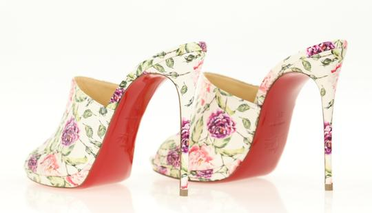 Christian Louboutin Leather Floral Multi Mules Image 6