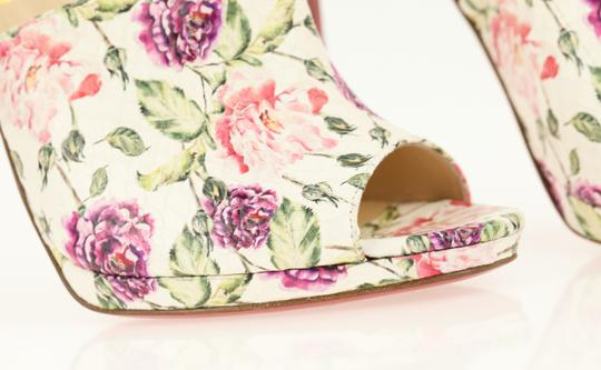 Christian Louboutin Leather Floral Multi Mules Image 7