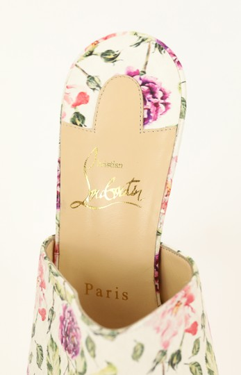 Christian Louboutin Leather Floral Multi Mules Image 8
