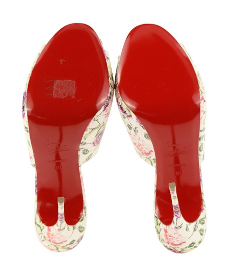 Christian Louboutin Leather Floral Multi Mules Image 9