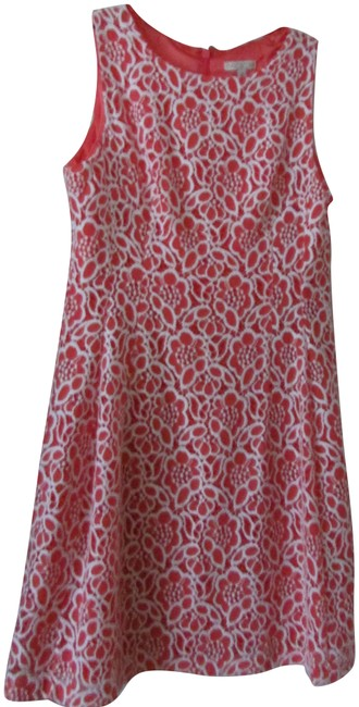 Item - Coral/White City Chic Short Work/Office Dress Size 12 (L)