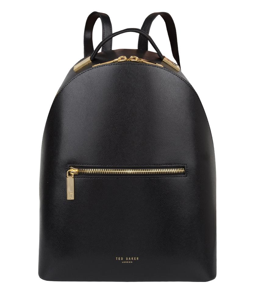 48d5833af Ted Baker Jarvis Leather Structured Shape Gold Hardware Backpack Image 0 ...