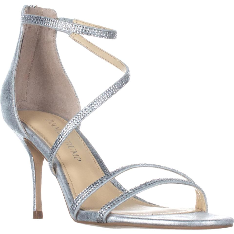 Ivanka Trump Silver Genese Strappy Pumps Evening Sandals Pumps Strappy b5fbdc