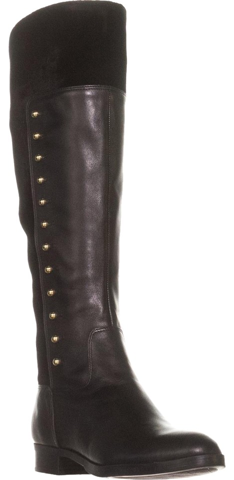 Marc Fisher Black Damiya Studded Boots/Booties Fashion Leather Boots/Booties Studded 9258f4