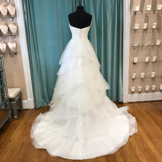 Sincerity Bridal Ivory Tulle and Lace 3934 Modern Wedding Dress Size 10 (M)