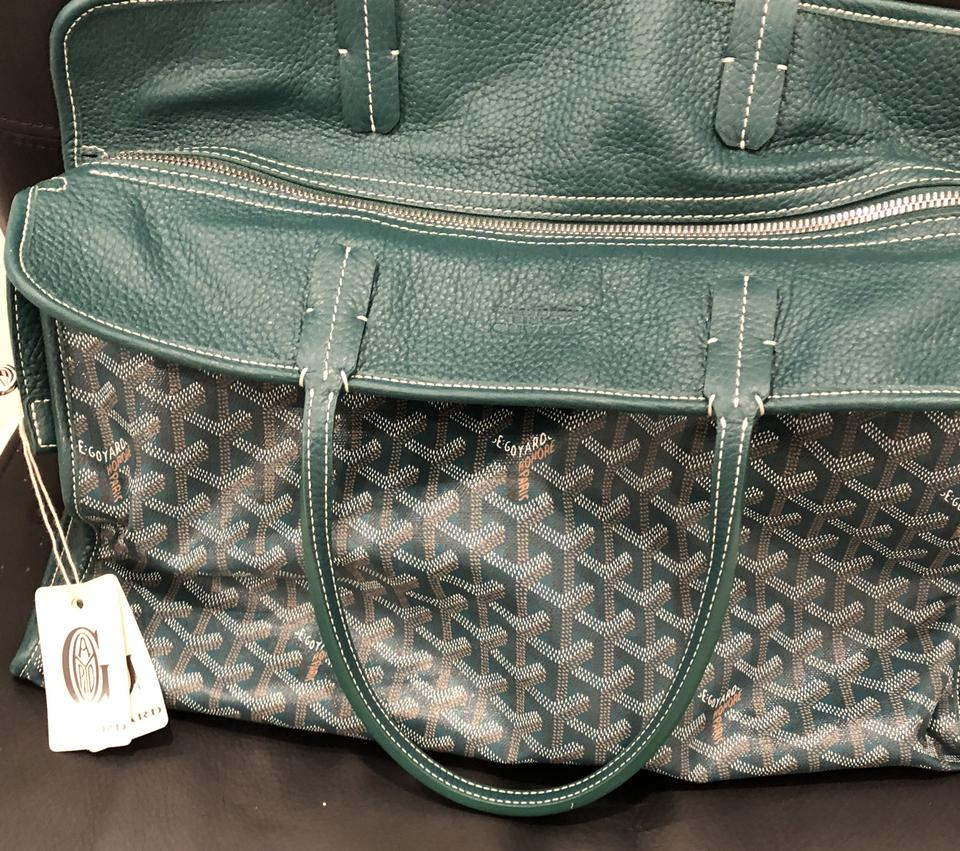 Satchel with Straps Pet Canvas Leather Green Pm Carrier Goyard Hardy wnPARvq1Ap