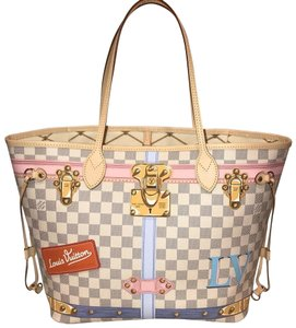 Louis Vuitton Monogram Damier Canvas Limited Edition Tote in Azur