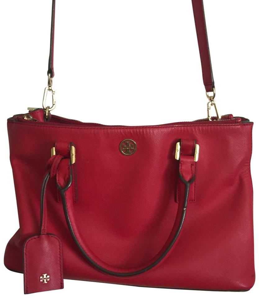 c55bcd569f3 Tory Burch Robinson Red Leather Satchel - Tradesy