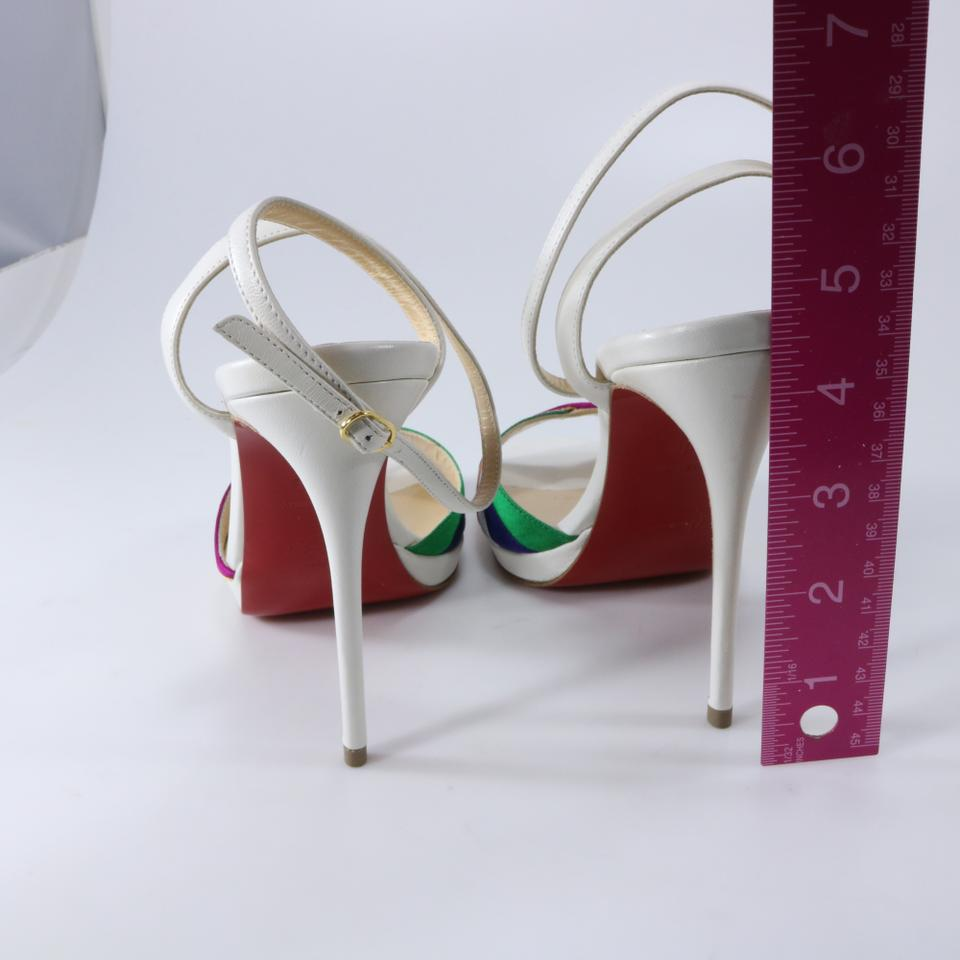 ccbbcba1fc40 Christian Louboutin Rainbow White Red Orange Yellow Green Blue ...