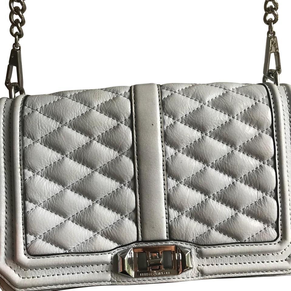143b378570 Rebecca Minkoff Rm Geo Quilted Love Gray Cross Body Bag - Tradesy