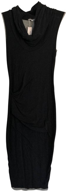 Item - Charcoal Grey Wmv6724 - Cowl Neck Tuck Mid-length Casual Maxi Dress Size 8 (M)