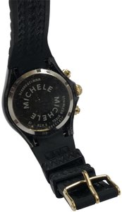 Michele Black and Gold Tahitian Jelly Bean Chronograph Sport Watch